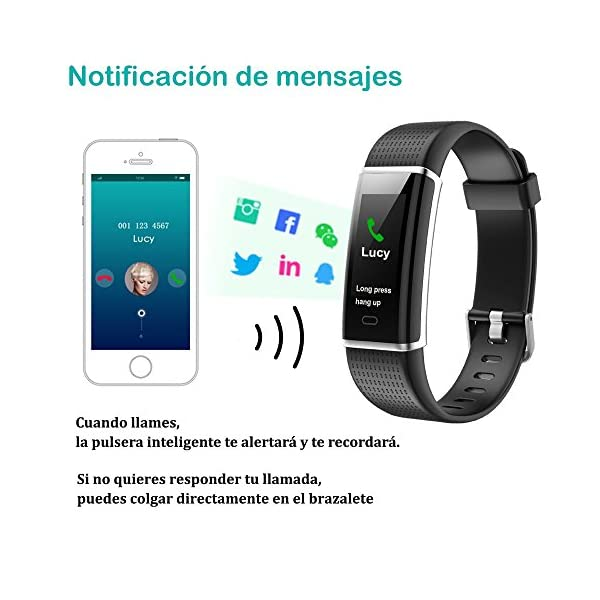 Willful Pulsera Actividad Impermeable IP68,Color Screen con 14 Modos de Deporte,Pulsera Inteligente con Pulsómetro… 7