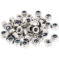 INCREWAY - Kit de tuercas de cierre hexagonales de nailon de acero inoxidable