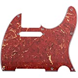 Seismic Audio SAGA15 Replacement Tortoise Shell Pickguard for Tele Style Electric Guitars and Luthier Projects, Red
