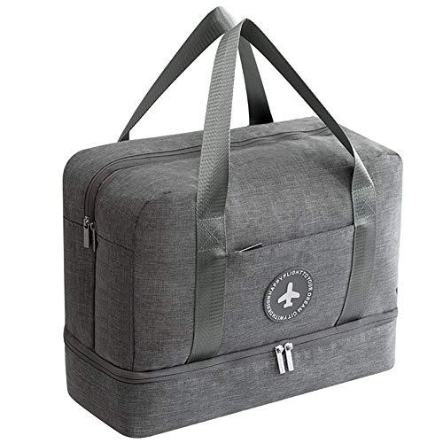 Schrank Organizer Kit (Einfache Retro-Handtasche Unisex Aufbewahrungstasche Handtasche, wasserdichte hängende Kosmetiktasche Travel Kit Organizer Kosmetiktasche Travel Carry On Duffles Taschen (grau) Geeignet zum Reisen und)