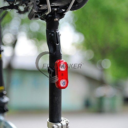 Lixada Leichter Fahrrad Rücksack mit Regenschutzkappe Rot Bicycle tail light