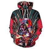 Hiphop Alien 3D-Druck Herbst Sweatshirt Maske Helm Hoodies