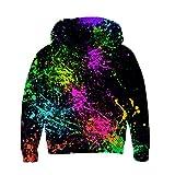 RAISEVERN Jungen Mädchen Fleece Hoodies 3D Graffiti Print Pullover Sweatshirts Mit Kapuze Pullover 3-14Y