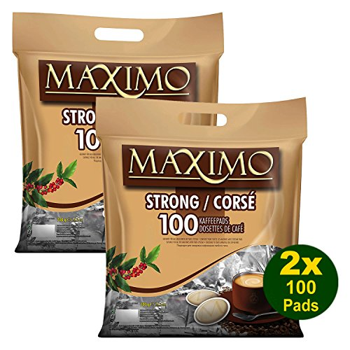 2 x MAXIMO Strong 100 Kaffeepads (2 x 100 Pads)