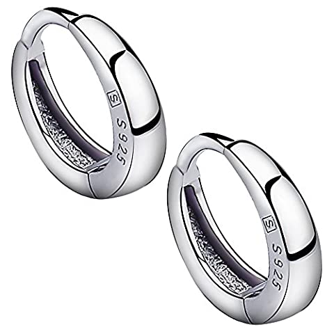 Meyiert Women Fashion Jewelry 925 Sterling Silver Round Smooth Simple