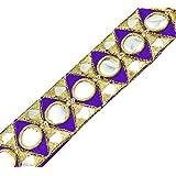 Cinta Bordada Púrpura Elementos Decorativos Elaboración De 3,7 Cm De Ancho Por El Patio