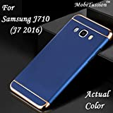 #9: For Samsung Galaxy J7 2016 Cover / J710 BlueGold MobiTussion New Luxury 3in1 back cover case For samsung J7 2016 - J710 back cover case (BlueGold)