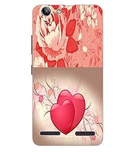 ColourCraft Heart and Flower Design Back Case Cover for LENOVO LEMON 3