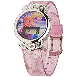 Disney Frozen children's quartz Watch with LCD Dial digital Display and transparent plastic Strap FROZ3