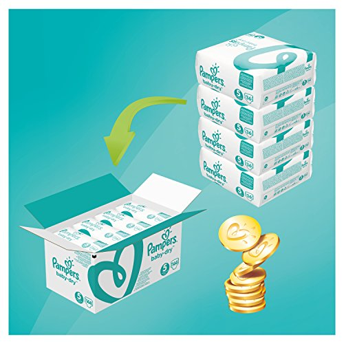 Pampers Baby-Dry Nappies Monthly Saving Pack – Size 5, Pack of 144
