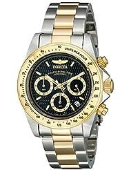 Invicta Herren-Armbanduhr XL Chronograph Quarz Edelstahl beschichtet 9224