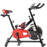 TecTake Indoor Cycling Fitness Bike Ergometer Fahrrad Rad Heimtrainer mit Computer - 5