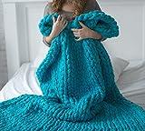SHASHA Decke Stricken Knitting Throw Blankets Garn Gestrickte Decke Handgestrickte Warme Chunky Knit Decke Merino Weiche Wolle Dickes Garn Sperrigen Sofa Throw,D-200 * 200
