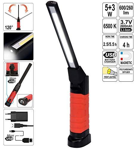 LED Akku Werkstattlampe Arbeitslampe Handlampe Leuchte Lampe 5W+3W