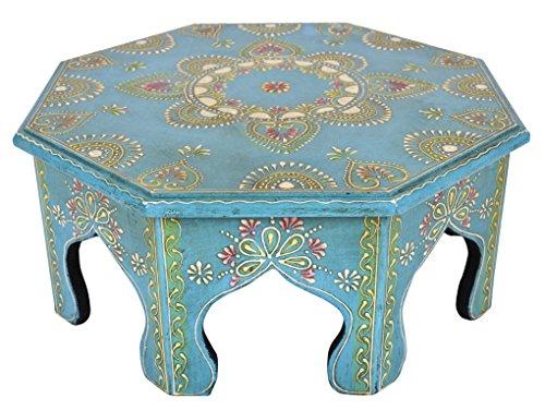 Lalhaveli Table en Bois Faits à la Main Pouf Repose-Pieds 36 x 36 x 15 cm