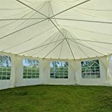 Quictent Decagonal 9x6.5m Large Marquee with Ground Bar Set and Large Windows