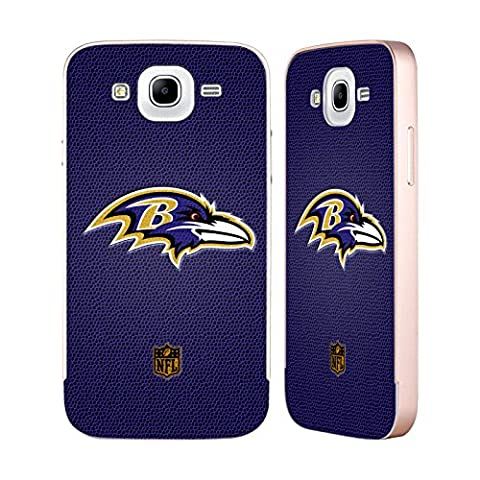 Officiel NFL Football Baltimore Ravens Logo Or Étui Coque Aluminium Bumper Slider pour Samsung Galaxy Mega 5.8 I9150