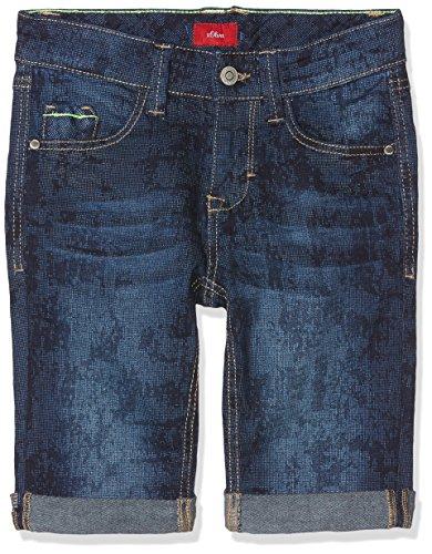 s.Oliver Jungen Shorts 61.805.72.8992, Blau (Blue Denim Stretch 58z2), 158/REG