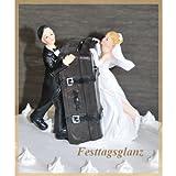 Brautpaar Koffer Spardose Hochzeit Tortenfigur