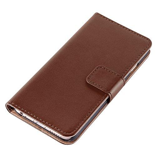 HANDYPELLE® Tasche für Apple iPhone 6 / 6s (4,7 Zoll / 11,9 cm) im Bookstyle in Grün Braun