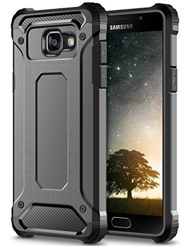 Galaxy A5 2016 Custodia,Grigio Shock-Absorption Rugged Armor e Anti-Scratch Soft Back TPU Bumper Protezione Custodia Cover per Samsung Galaxy A5 (2016) A510F