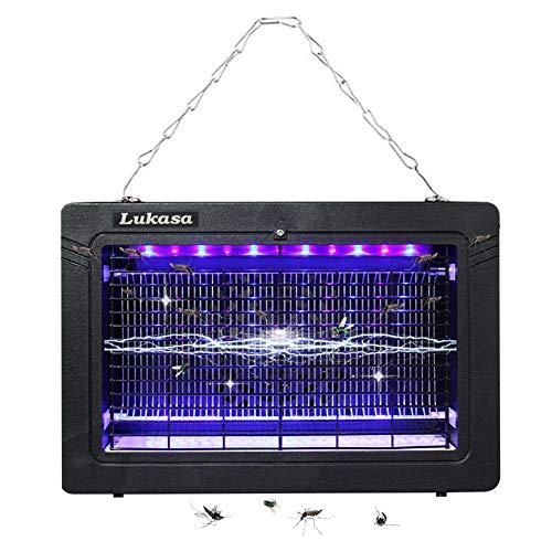 Lukasa Insektenvernichter, Elektrischer Moskito Killer, Mücken & Fliegenfänger liegenfalle Fliegenfänger mit UV-Licht 7W für Räume bis 30m² schnell und chemiefrei