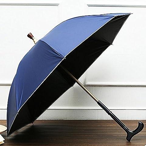 KHSKX Per dare loro viaggio, necessario, alpinismo ombrelloni lungo solido stampelle regolabili, ombrelloni maschile , red