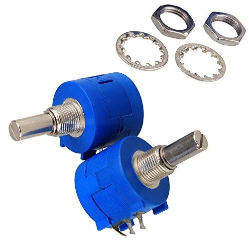 DN 3590S-2-101L 100 Ohm 10-Turn Rotary Wire Wound Precision Potentiometer Pot (confezione da 2)