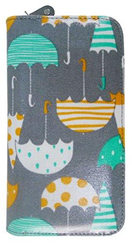 Kukubird Vari Gatti Unicorni Animali Ancora Ombrello Floreale Pattern Large Signore Borsa Frizione Portafoglio Umbrella Grey