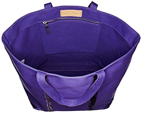 Vanessa Bruno Cabas Medium + -Coton et Paillettes, Cabas violet(ultra)