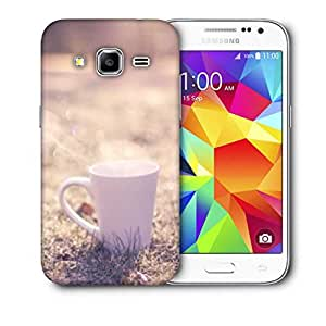 Snoogg White Mug Printed Protective Phone Back Case Cover For Samsung Galaxy Core Plus G3500
