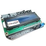 Hiletgo LCD1602 carácter LCD entrada salida Expansion Board LCD Teclado Escudo