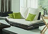 Bambus-Sofa 2er Bambussofa 2-Sitzer Japan Möbel Bambussessel in schwarz, asiatische Möbel,
