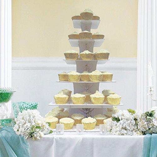 Kostüm Cupcake Valentine - amscan Rustikal Hochzeit 6Etagen Cupcake-Ständer
