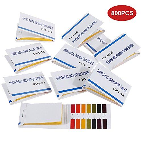 Faburo 800 Stück pH-Indikator Lackmuspapier