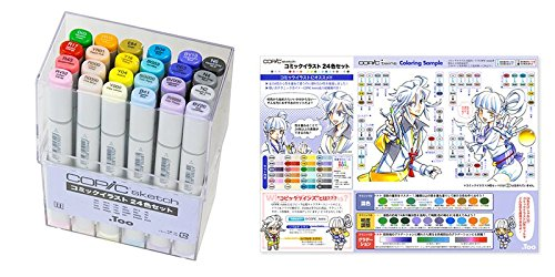 Copic Sketch set-Copic Sketch Comic Illustration 24 color set