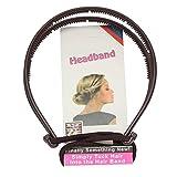 JUSTFOX - Frisurenhilfe Haarreif mit Haarband in Braun