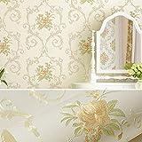 Papel Pintado Autoadhesivo decoración de la Pared del Dormitorio 3D Pegatinas de Pared Maciza Papel Tapiz- 53CMX3M