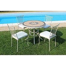 Tavoli In Mosaico Da Giardino.Amazon It Tavolo E Sedie Da Giardino Mosaico