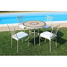 Tavolo Da Giardino Con Mosaico.Amazon It Tavolo E Sedie Da Giardino Mosaico