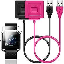 Accessori Kit per Fitbit Blaze, Senhai 2 pack caricabatterie con sostituzione Protezione di schermo per Fitbit Blaze intelligente orologio fitness