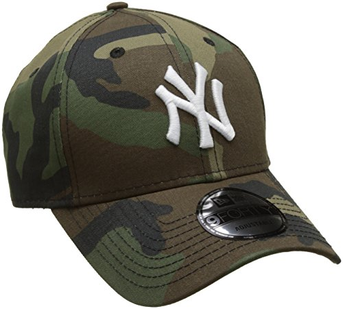 New Era Herren Baseball Cap Mlb League Essential New York Yankees Camoflage, Green (Camouflage), One size