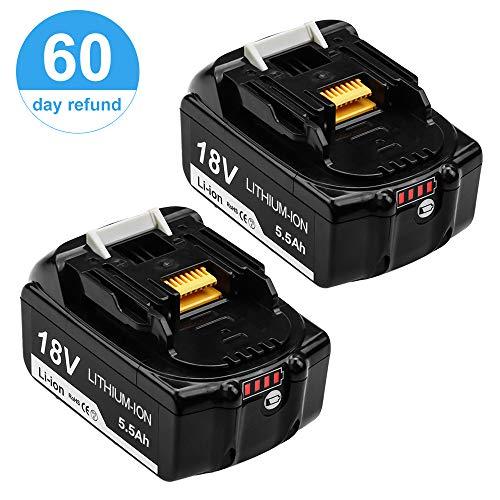 Topbatt 2X BL1860B 18V 5.5Ah pour Makita Lithium-ion batterie de...