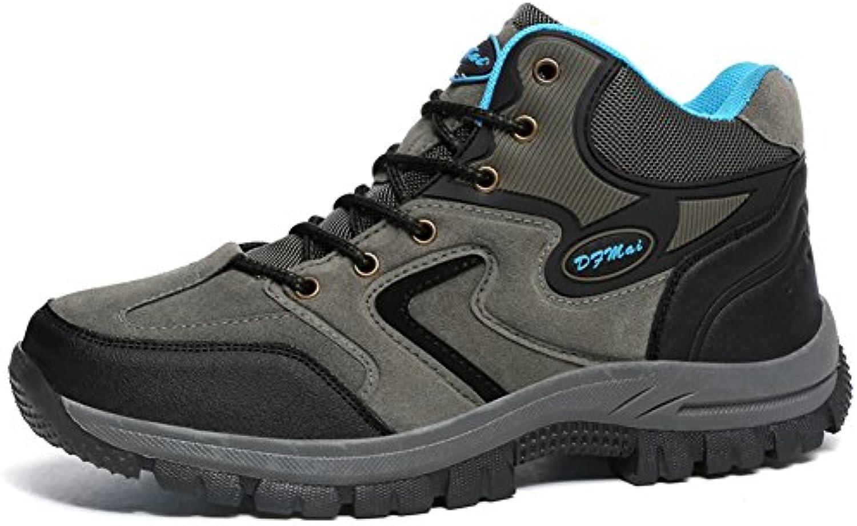 Gomnear de los hombres Botas de montaña Trekking Zapatos Baja arriba Antideslizante Ante Para caminar Alpinismo