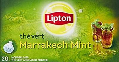 Lipton Thé Vert Marrakech Mint 60 Sachets (Lot de 3 x 20 Sachets)