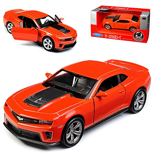 Welly Chevrolet Chevy Camaro SS RS Coupe Orange ZL1 5. Generation Ab 2009 ca 1/43 1/36-1/46 Modell Auto (Chevy Camaro Zl1)
