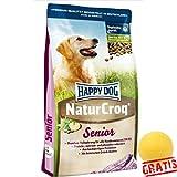 HAPPY DOG Natur Croq Senior HDNS +BALL Gratis Futter Für alle Hundesenioren Hundefutter Hunde (4 kg)