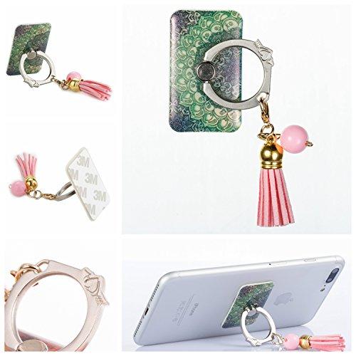 Preisvergleich Produktbild Handyhalterung Handy Ring, Alfort 360° Quaste Griff Halterung Ständer Handy Ring für iPhone, Samsung, Sony, Huawei und Alle anderen Telefone, Tabletten (Totem)