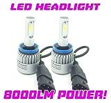 Safego 2x H8 H9 H11 Faro Bombillas Alquiler de luces LED 60W 8000LM brillante estupendo de la lámpara con la viruta del COB para el coche / Van / Camión / vehículo Car Auto Llevado conduciendo la Luz de Niebla NO CANBUS