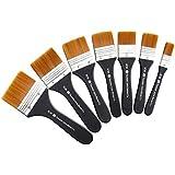 lightwish Juego de 7brochas de pintura para acrílico, aplicación gesso aceite, pintura, acuarela